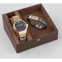 Kit De Relógio Analógico Mondaine Masculino + Pulseira - 83398Gpmvde2Kb Dourado - Único