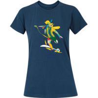 Camiseta Adams Básica Futebol - Feminina - Azul Escuro - Chute Copa América 2019 - Azul Escuro