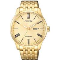 Relógio Citizen Automático Tz20804G Masculino - Masculino-Dourado