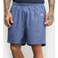 Short Adidas Run It 3S Masculina - Masculino-Azul+Marinho