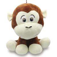 Bicho De Pelúcia Safári 35Cm - Macaco Marrom - Unik Toys - Kanui