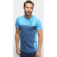 Camiseta Under Armour Mk1 Ss Colorblock Ss19 Masculina - Masculino