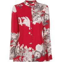 Natori Blusa Com Estampa Floral - Vermelho