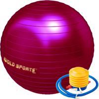 Gym Ball Gold Sports 55Cm Com Bomba De Ar De Pé Cereja