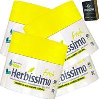Kit Com 4 Desodorante Herbissimo Creme 55G Fresh - Kanui