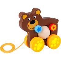 Urso Tooky Toy Divertido De Puxar Em Madeira - Tke004 - Marrom