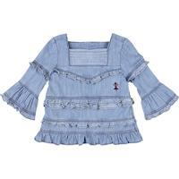 Blusa Jeans Feminina Puc Lab Por Isabela Capeto