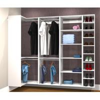Conjunto Completo Para Closet 36 Branco - Getama Moveis