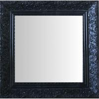 Espelho Moldura Rococó Fundo 16422 Preto Art Shop