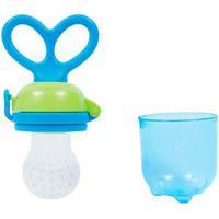 Alimentador De Frutas Para Bebê Buba Anatômico Silicone Azul