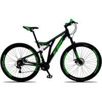 Bicicleta Aro 29 Ksw Impact Full Dupla Suspension Câmbios Shimano 21 Marchas Freio A Disco - Unissex