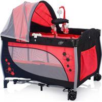 Berço Baby Style Cercado Desmontável Balanço Vermelho