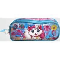 Estojo Gatinha Nina Infantil Com 2 Compartimentos Clio Rosa (Sortido, Único)