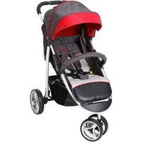 Carrinho De Bebê Passeio Galzerano Apollo - Unissex-Grafite+Vermelho