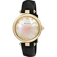 Relógio Gucci Feminino Couro Preto - Ya141404
