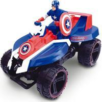 Quadriciclo De Fricção - Avengers - Capitão América - Marvel - Toyng - Masculino-Incolor