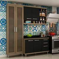 Cozinha Compacta New Vitoria I 6 Pt 3 Gv Avelã Com Onix