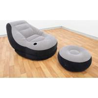Poltrona Ultra Lounge (99Cm X 130Cm X 76Cm) Com Puff (64Cm X 28Cm) 68564 Intex