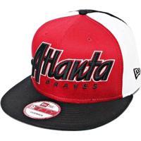 Netshoes  Boné New Era Aba Reta Snapback Mlb Atlanta Snapitback - Unissex e7a3001f1b0cb