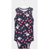 0737be048 ... Body Infantil Up Baby Suedine Hello Kitty Feminino - Feminino-Azul