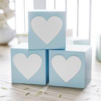 Cubo Mdf Azul Personalizado Coraã§Ã£O 6X6Cm Grã£O De Gente Azul - Azul - Dafiti
