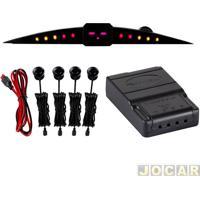 Sensor De Estacionamento - Roadstar - Universal Fixado No Painel - Preto - Cada (Unidade) - Rs-204Br