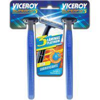 Aparelho De Barbear Viceroy Superfio 3 Descartável Com 2 Unidades