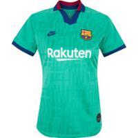 Camisa Barcelona Iii 19/20 Nike - Feminina - Aqua
