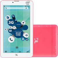 "Tablet Dl Socialphone 700 7"" Wi-Fi 3G Dual 8Gb Tx316Bra Rosa Neon"