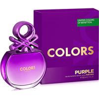 Perfume Feminino Colors Purple Benetton Eau De Toilette 80Ml - Feminino