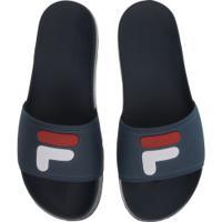 Chinelo Fila F-Slider 2.0 - Slide - Masculino - Azul Escuro