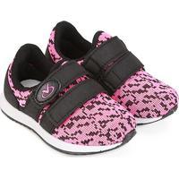Tênis Infantil Via Vip Baby Velcro Feminino - Feminino-Preto+Pink