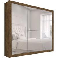 Guarda-Roupa Casal Com Espelho Mônaco 3 Pt Ypê