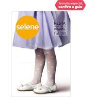 Meia Calça Infantil Branca - Selene - P