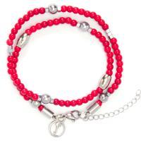 Bracelete Masculino Frank Silver Red Special Edition - Vermelho