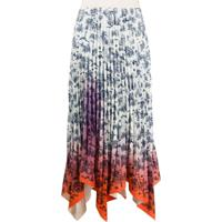 Ssheena Pleated Floral Skirt - Branco