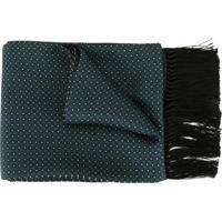 Dolce & Gabbana Echarpe Estampada Com Franjas - Azul