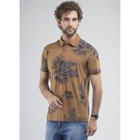 Camisa Polo Palm Trees Caramelo