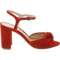 Sandália Knot Block Heel Tango Red | Schutz