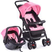 Carrinho De Bebê Travel System Moove-Cosco - Rosa