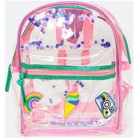 Bolsa Infantil Mini Bag Transparente Com Patches - Tam U