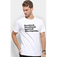 Camiseta Reserva Estmpada Visualizou Masculina - Masculino-Branco