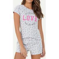 Pijama Feminino Espaço Pijama 40747 Mescla-Claro