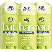 Ban Kit Desodorante Antitranspirante Sólido 73G Trio - Powder Fresh