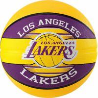 Bola De Basquete Spalding Nba Los Angeles Lakers Amarela