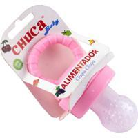 Alimentador Chuquinha Com Tampa - Rosa - Chuca Baby