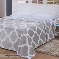 Cobertor Toque De Seda Super King Size- Cinza Claro & Brniazitex