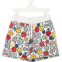 Stella Mccartney Kids Teen Floral Track Shorts - Branco