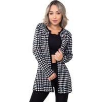 Casaco Fashion Tricot Colors Preto
