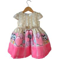Vestido Gira Baby Kids Barrado Pinguim